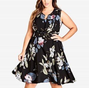 NWT City chic floral print dress